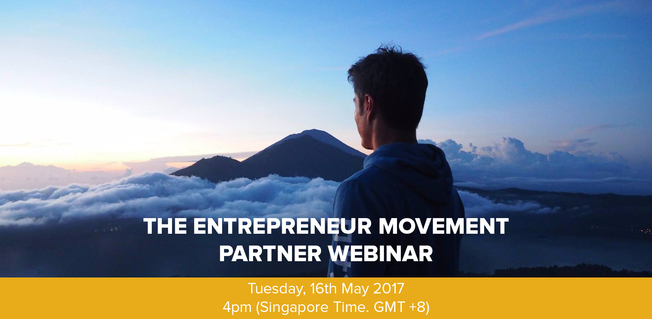 Desktop entrepreneur movement parter webinar
