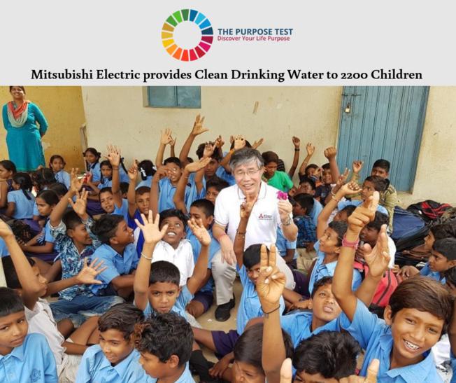 Desktop mitsubishi electric provides clean drinking water to 2200 children in karnataka