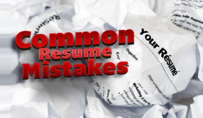 Desktop most common resume mistakes