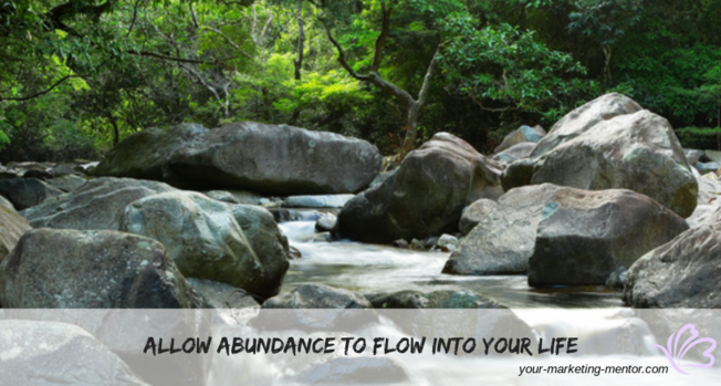 Desktop allow abundance to flow into your life  1