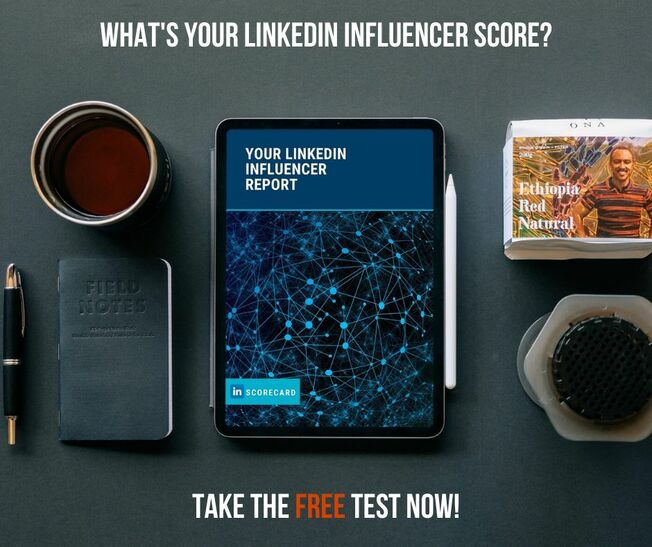 Desktop linkedin influencer scorecard post