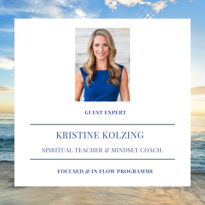 Desktop kristine kolzing  spirtual teach and mindset coach  focused and in flow programme