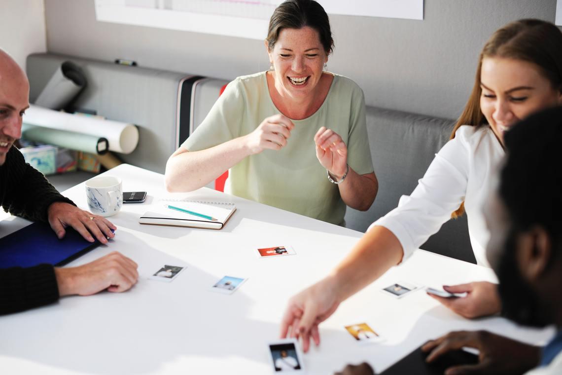 Desktop adult brainstorming business 515169