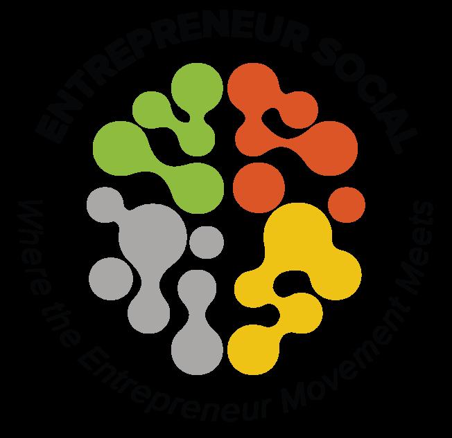 Desktop entrepreneur social logo round