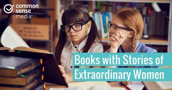 Desktop books with stories of extraordinary women