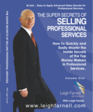 Table secrets of selling professional services cover